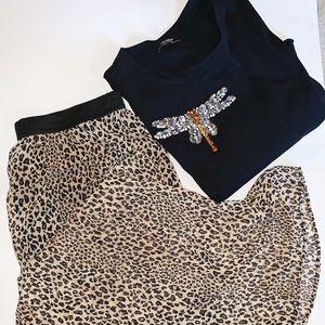 Leopard Skirt & Zara top set